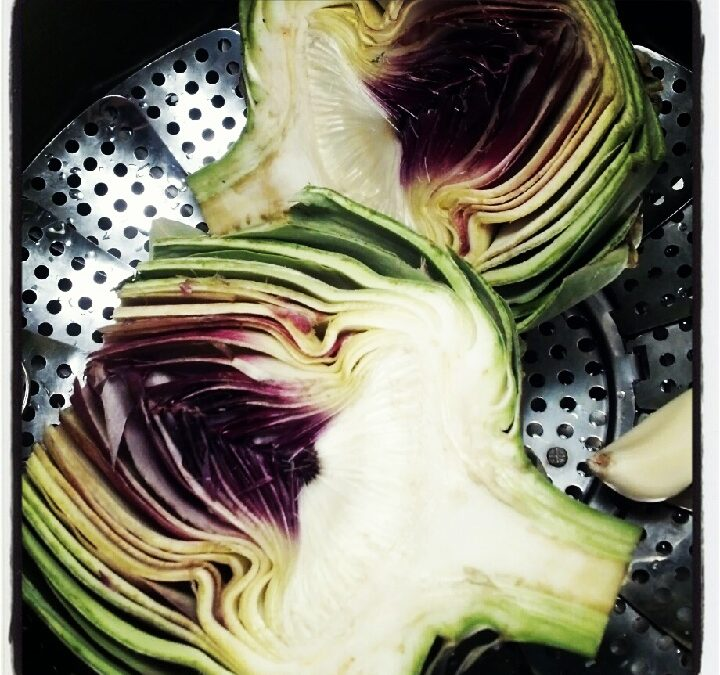 Roasted Artichokes with Mayo-Free, Gluten-Free Melt® Dipping Sauce!