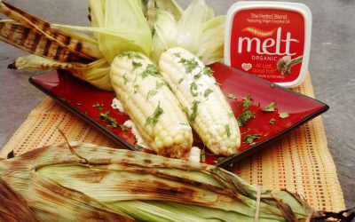 Grilled Corn on the Cob with Cilantro Lime Melt® Organic