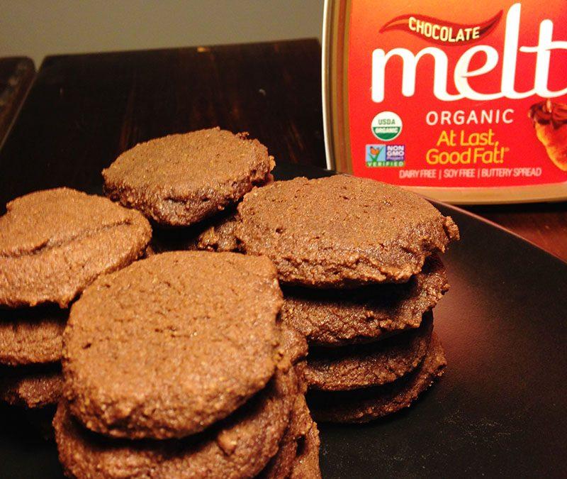 Double Chocolate Medallion Coconut Flour Cookies