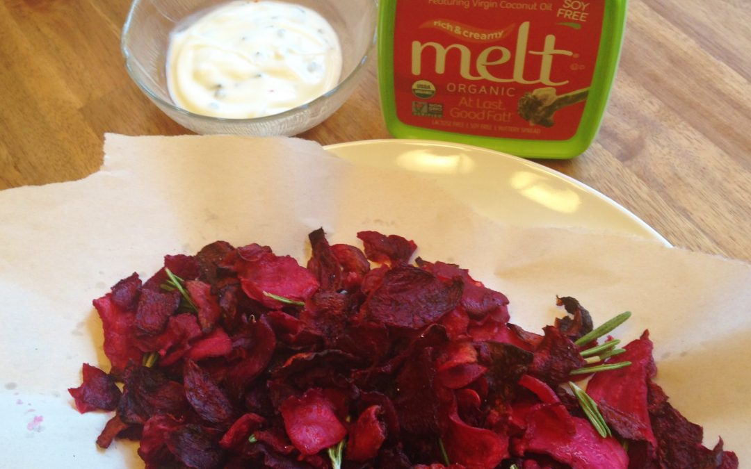 Grilled Rosemary Sea Salt and Vinegar Beet Chips
