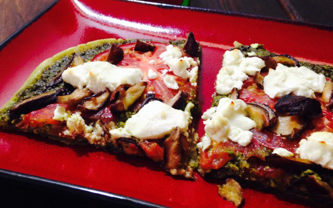 Goat Cheese and Pesto Pizza (Gluten-Free)