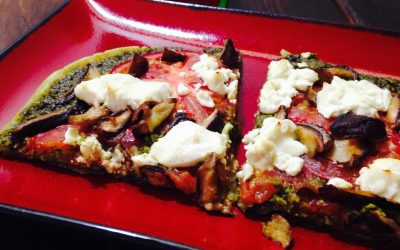 Goat Cheese and Pesto Pizza (Gluten-Free)