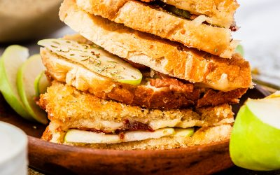 Brie, Bacon, Apple, and Peach Grilled Cheese
