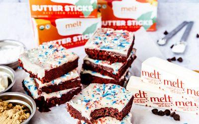 Red Velvet Vegan Brownies & Cream Cheese Frosting