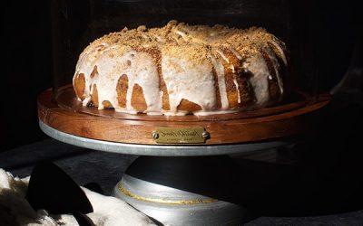 Vegan Blueberry Cinnamon Swirl Coffee Cake
