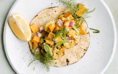 Turmeric Curry Cauliflower Tacos