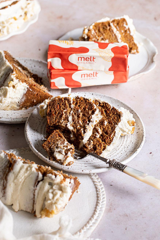 Melt Organic Gluten Free Vegan Carrot Cake Recipe