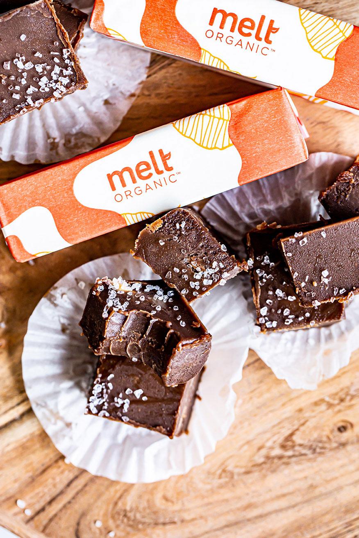 Melt Organic Salted Tahini Chocolate Fudge Recipe