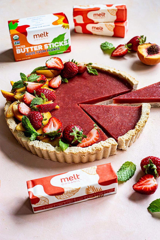 Melt Organic Strawberry Peach Tart Recipe
