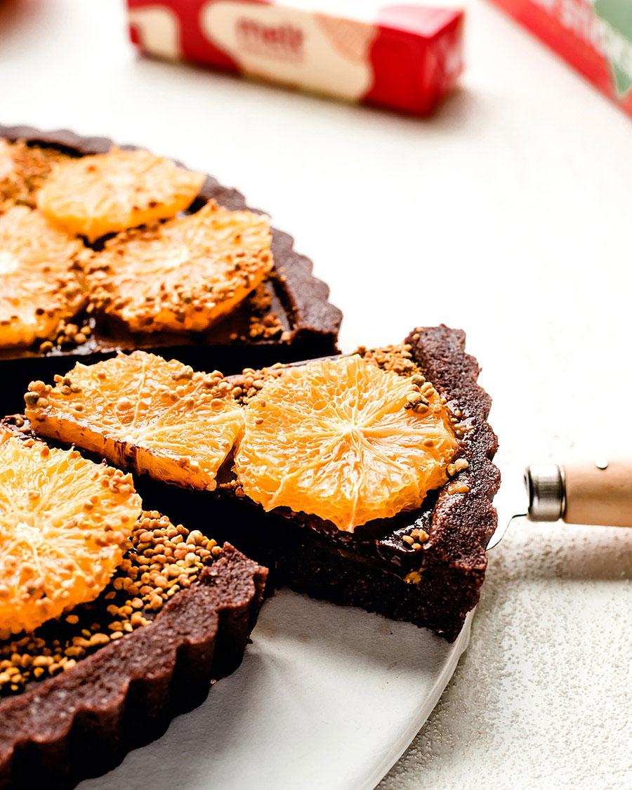 Melt Organic Orange Chocolate Tart Recipe